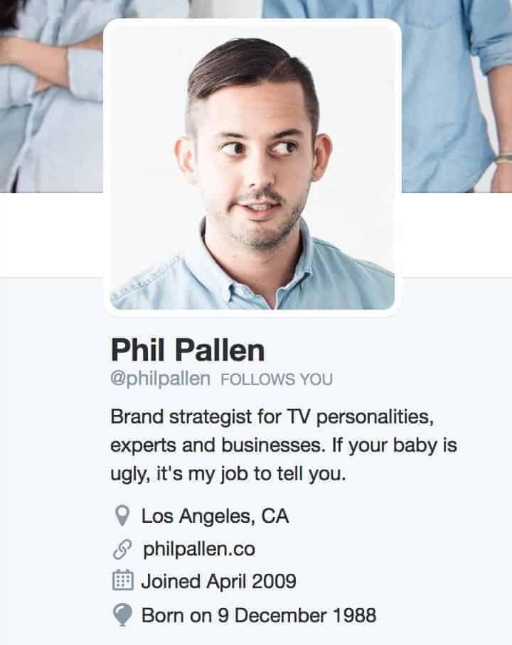 Phil Pallen – profil naTwitterze