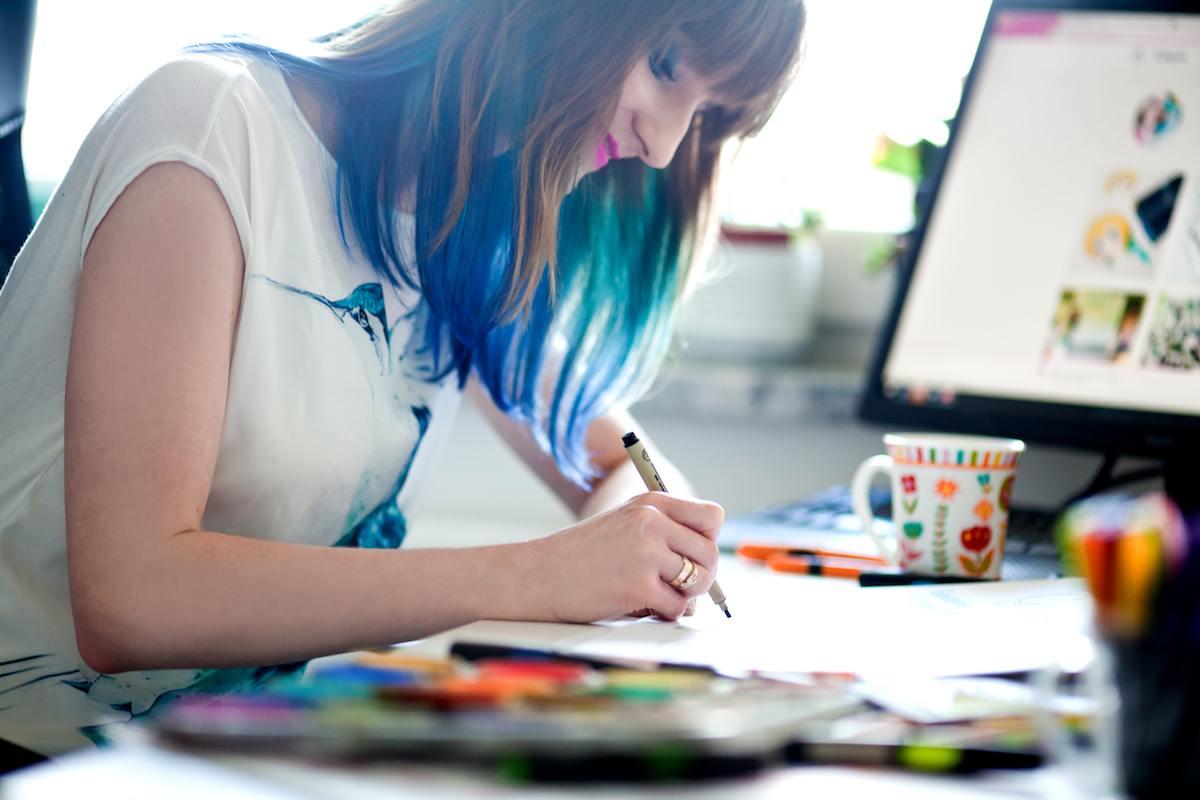 Agata Jakuszko tworzy sketchnotki