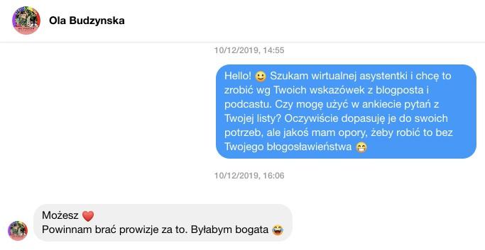 Zgoda Oli Budzyńskiej nawykorzystanie modelu zatrudniania pracowników